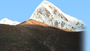 Mt. Kala Patthar with Pumori in Background